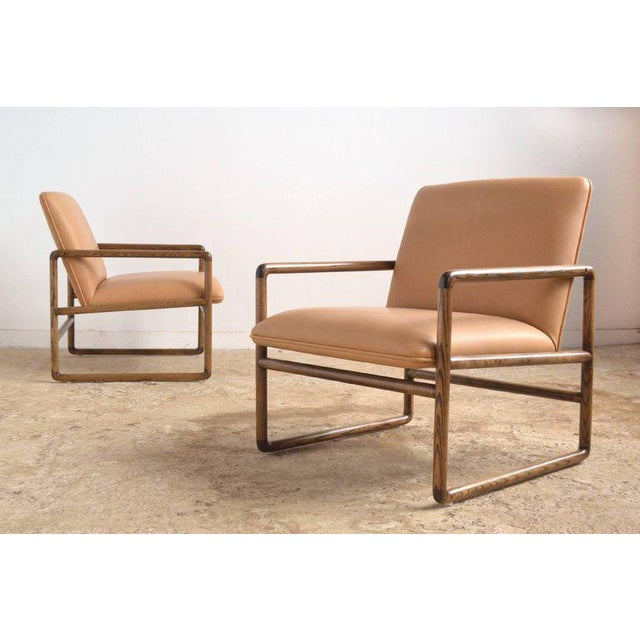 Pair of Ward Bennett Lounge Chairs by Brickel For Sale - Image 9 of 10