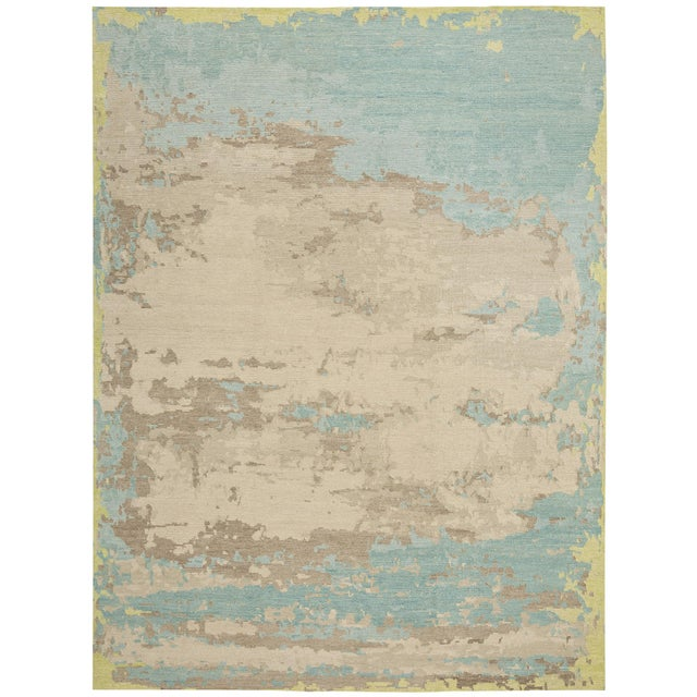 Abstract Earth Elements - Customizable Spearmint Rug- 9x12 For Sale - Image 3 of 3