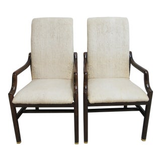 Vintage Henredon Scene One Campaign Dining Chairs - a Pair