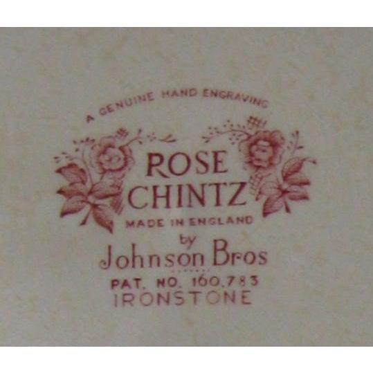 White Vintage English Rose Chintz China Service - Set of 75 For Sale - Image 8 of 10