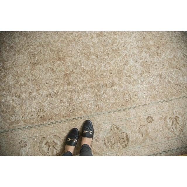 "Brown Vintage Distressed Mahal Carpet - 10'3"" x 13'8"" For Sale - Image 8 of 10"