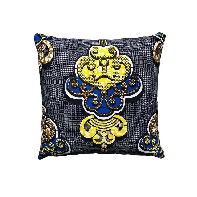 Sample Sale- Royalty African Print Pillows- a Pair - Image 1 of 4