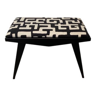 Black and White Geometric Bench For Sale