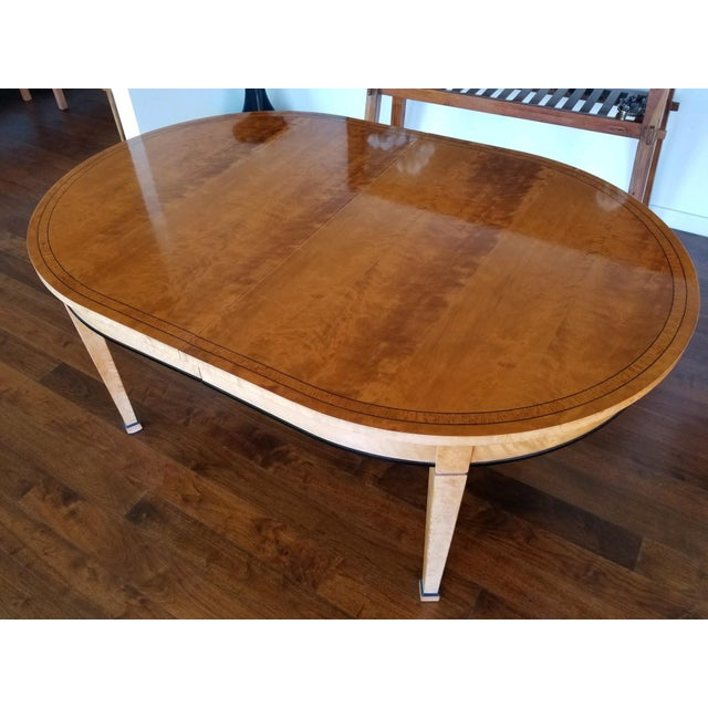 Beautiful Biedermeier style dining table original purchased from Lief in 1994. Table is extendable with 2 extension...