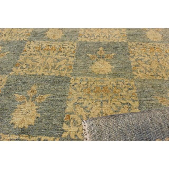 "Kafkaz Peshawar Sarina Blue & Gold Wool Rug - 12' x 17'4"" For Sale In New York - Image 6 of 7"