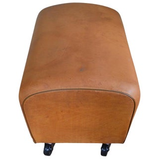 Bench, Footrest, Seat From Leather Gymnast Goat Pommel, Wheels; #2 For Sale