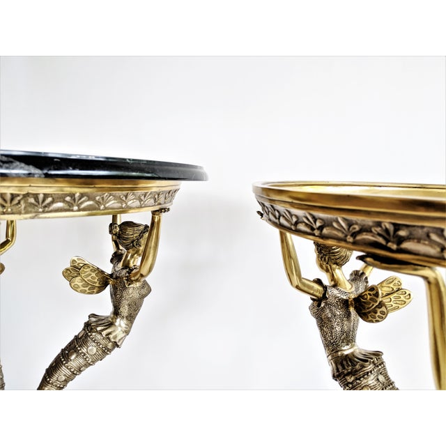 Art Nouveau Bronze Mythical Fairy Figural Tables - A Pair - Image 8 of 11