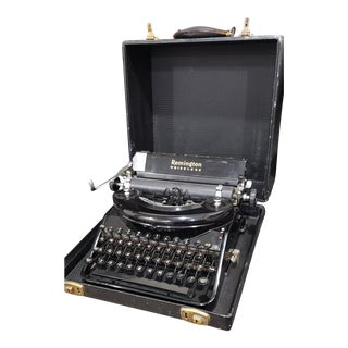 Remington Noiseless Model 7 Typewriter & Case For Sale