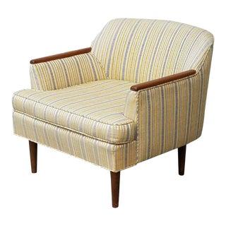 Vintage Striped Club Chair