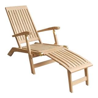 Niagara Teak Deck Chair For Sale
