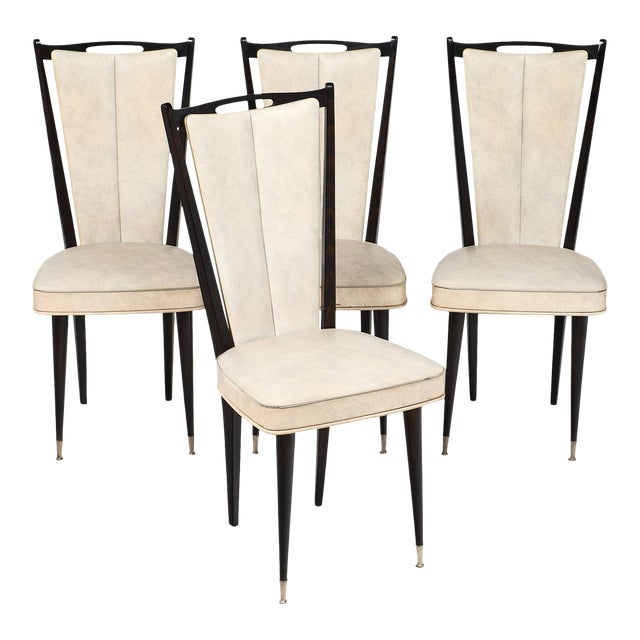 Modernist Vintage French Chairs - set of 4 For Sale - Exquisite Modernist Vintage French Chairs - Set Of 4 DECASO