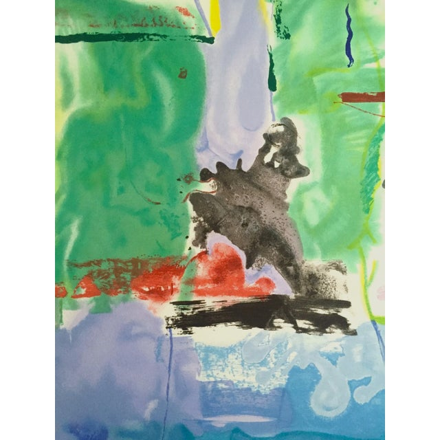 "Helen Frankenthaler Rare Lmt Edtn Hand Pulled Original Silkscreen Print "" West Wind "" 1996 For Sale - Image 9 of 13"