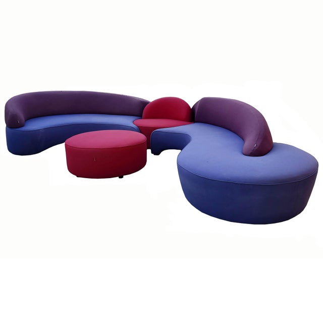 Contemporary Vladimir Kagan Sectional Sofa by Roche Bobois Vintage - Four Piece Living Room Set For Sale - Image 3 of 13