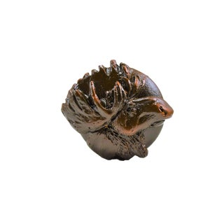 Bronze Moose Knob with Traditional Patina For Sale