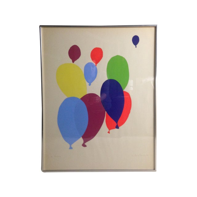 Colorful Balloon Screen Print For Sale
