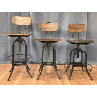 Toledo Industrial Adjustable Height Swivel Stools With Backs, Three Available Preview