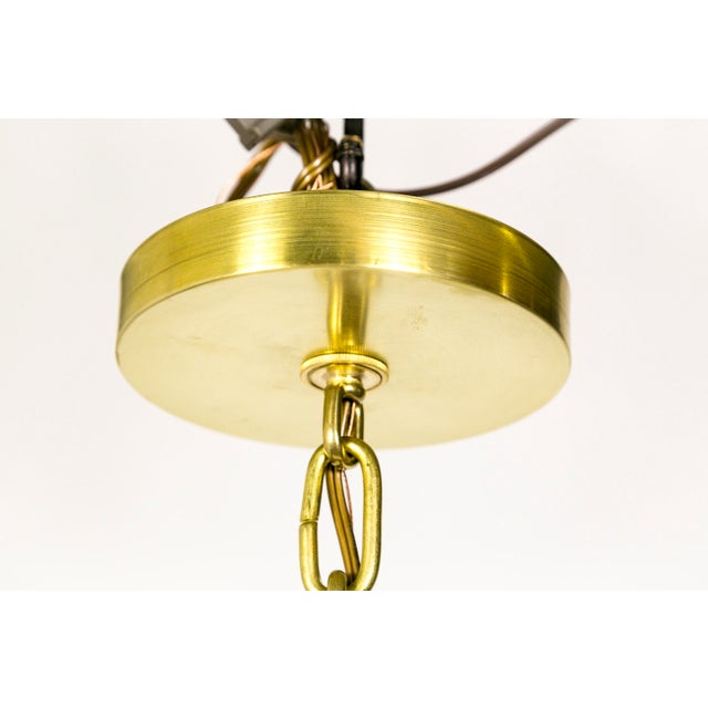 Gold Schoolhouse Lanterns (pair) For Sale - Image 8 of 9