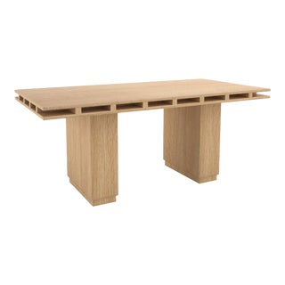 Contemporary 103 Dining Table in Oak by Orphan Work, 2019 For Sale
