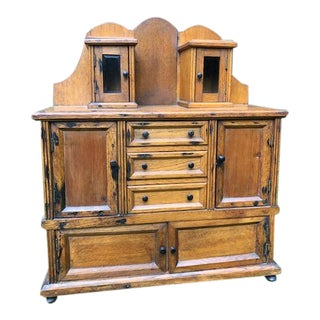 Authentic Handcrafted French Salesmen's Sample Dresser For Sale