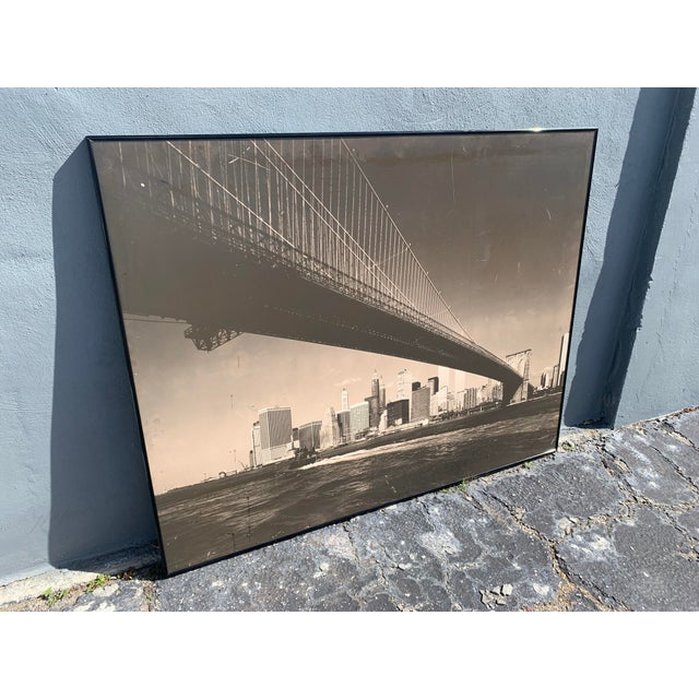 If you can make it there! Original photography from 1979 by Barry Howe taken from underneath Brooklyn Bridge showing lower...