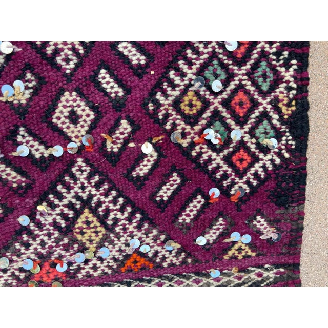 1950s 1950s Moroccan African Zemmour Ethnic Textile Rug For Sale - Image 5 of 13
