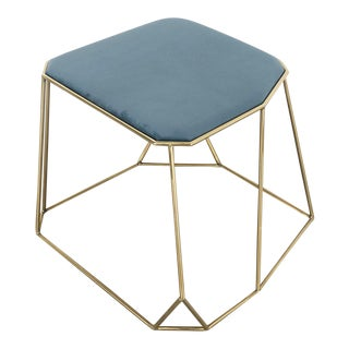 Vintage Domus Collection Brass Stool Design by Vintage Domus Luxury Collection For Sale