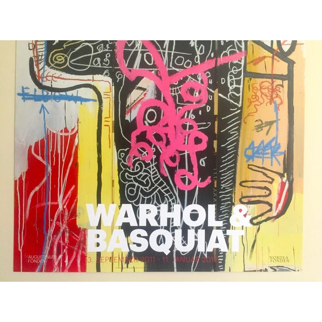 Andy Warhol & Jean Michel Basquiat Rare Limited Edition Original Offset Lithograph Print Poster For Sale - Image 5 of 11