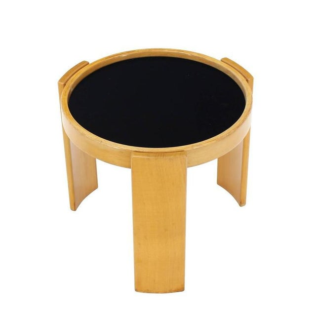 Wood Cassina Set of Four Nesting Round Tables For Sale - Image 7 of 9