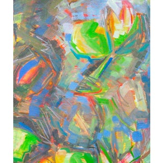 """""""Water Lilies 2"""" by Trixie Pitts Abstract Oil Painting Preview"""
