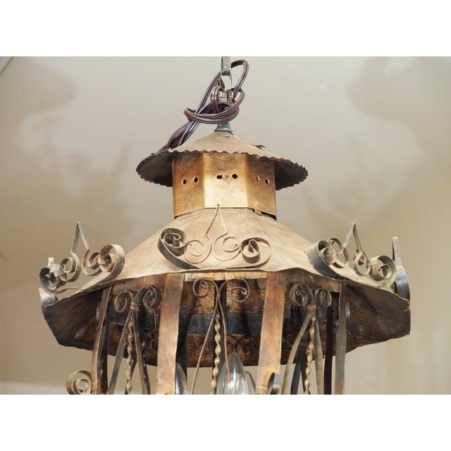 Tole Lantern Form Light - Image 3 of 10