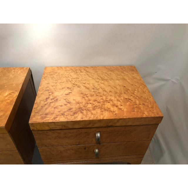 Mid Century Tiger Maple Night Stands - a Pair For Sale - Image 4 of 10