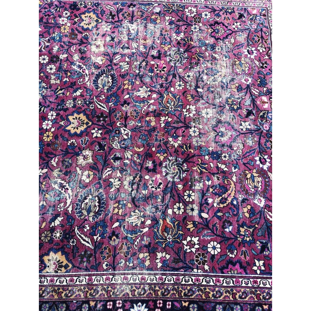Large Early 20th Century Antique Persian Distressed Handmade Rug For Sale In Portland, OR - Image 6 of 12