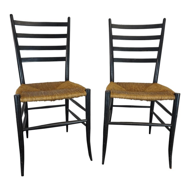 Italian Style Ladderback Chairs - A Pair - Image 1 of 7