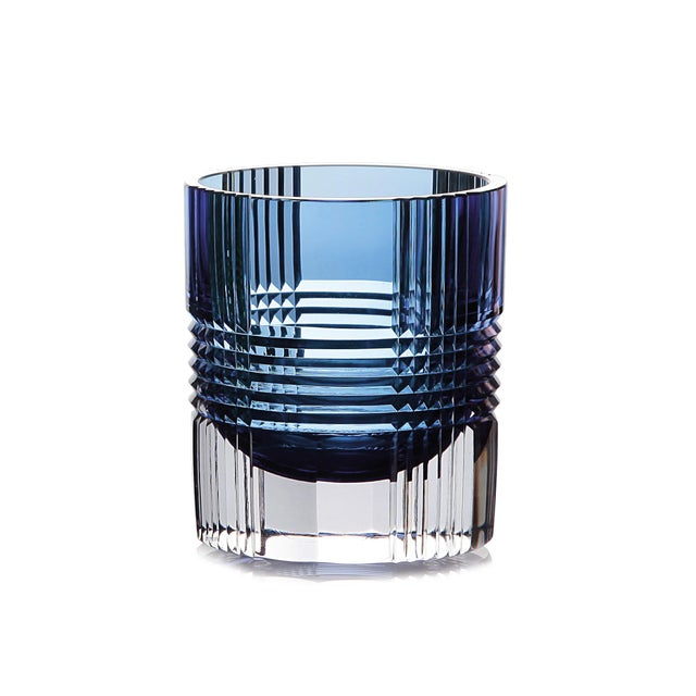 Viden Double Old Fashioned Glasses, Assorted Colors, Set of 6 (Smoke, Teal, Chartreuse, Blue, Rose, Amber) For Sale - Image 6 of 9