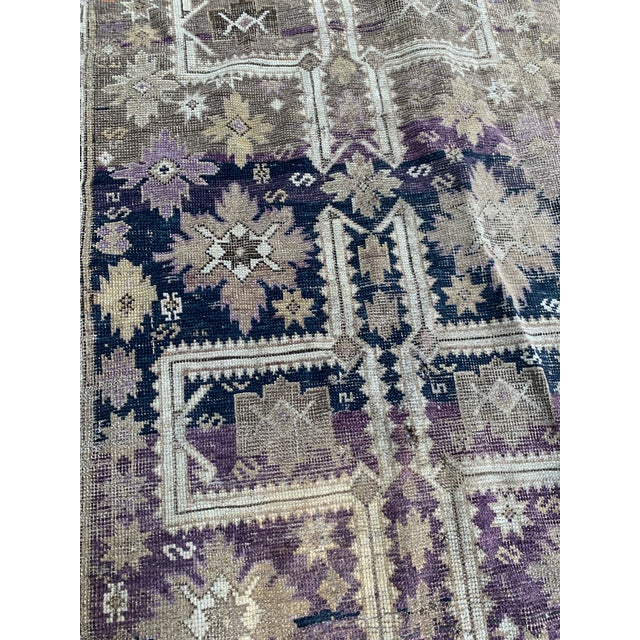 Early 20th Century Antique Caucasian Wool Rug - 3′8″ × 5′1″ For Sale - Image 5 of 7