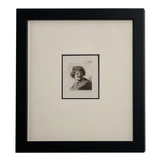 Late 18th Century Rembrandt Etching #34, by Francesco Novelli For Sale