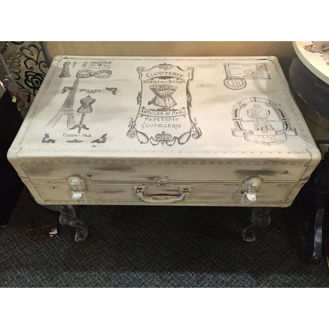 Vintage Trunk Queen Anne Coffee Table - Image 3 of 12