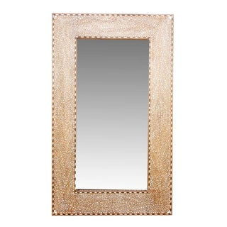 Grand Foliage Bone Inlay Mirror For Sale