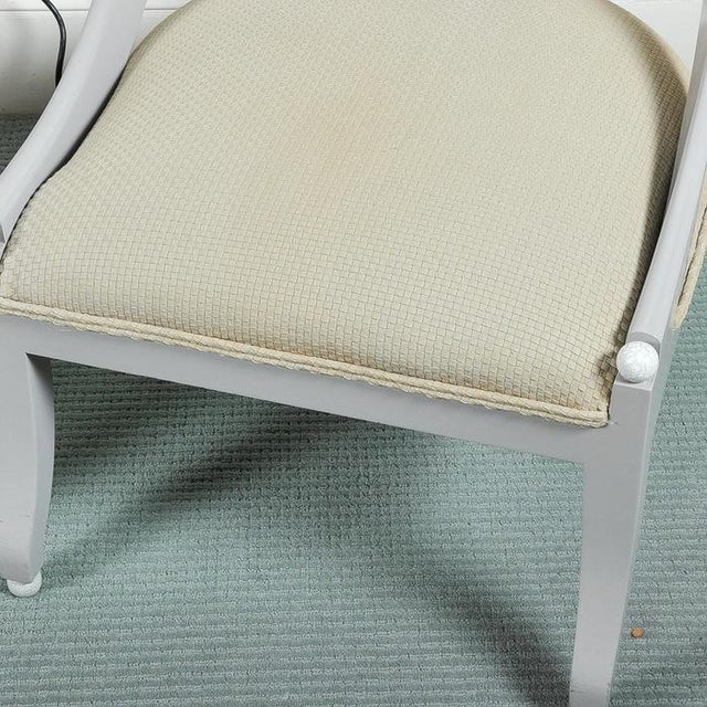 Custom Contemporary Grey Arched Chairs - Pair - Image 3 of 8