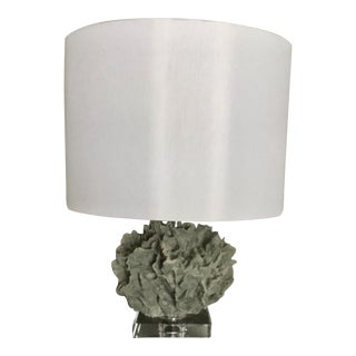 Moss Green Faux Coral Base Table Lamp