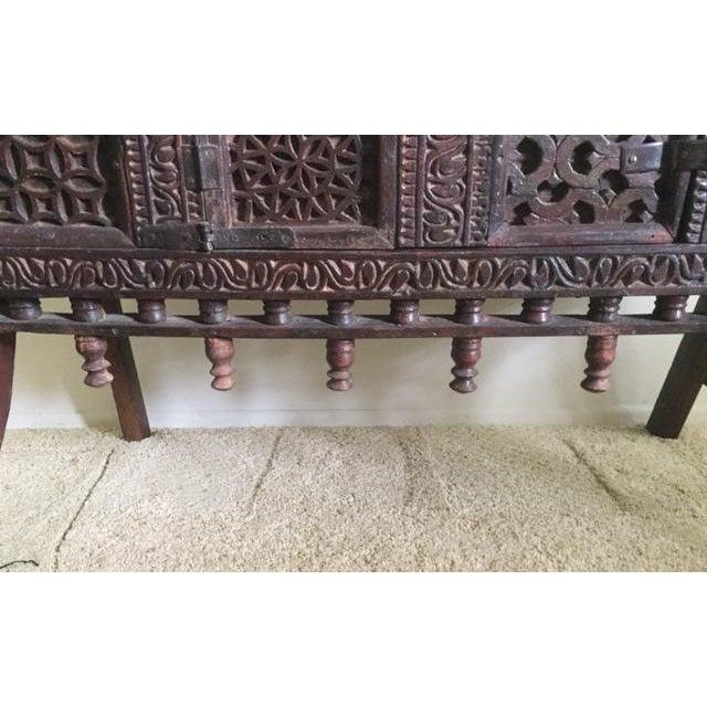 Antique Indian Wood Carved Sideboard - Image 4 of 10
