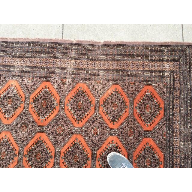 Distressed Vintage Persian Bokhara Rug - 6′ × 4′2″ - Image 5 of 10