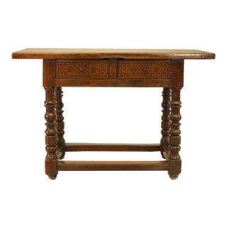 English Renaissance Style Console Table For Sale