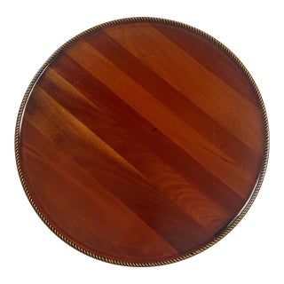 Satinwood & Ebony Rope Edge English Walnut Tray For Sale