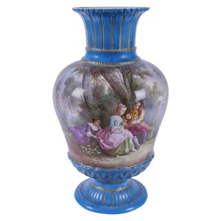 19th Century American Classical Blue Sevres Porcelain Vase