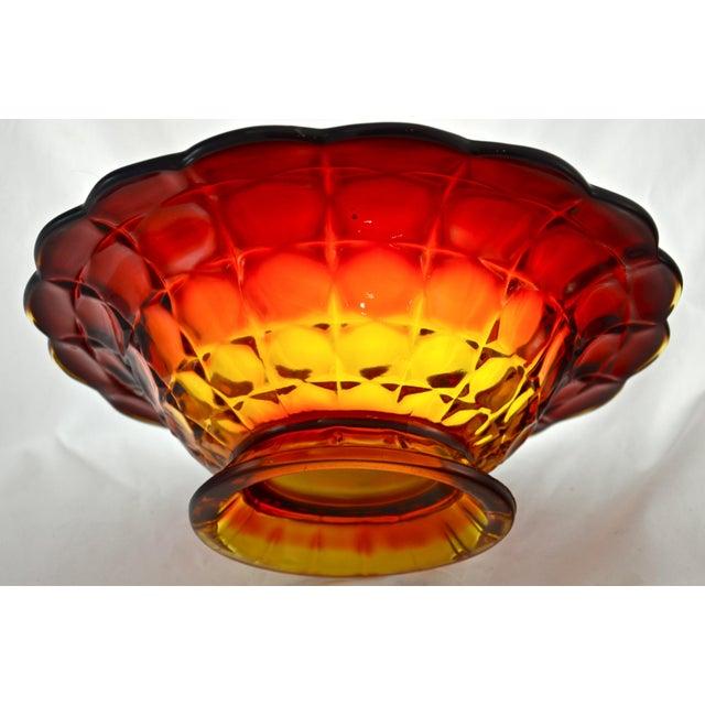 Amberina Petal Rim Centerpiece Bowl - Image 3 of 5
