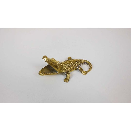 1960s Brass Alligator - Image 3 of 6