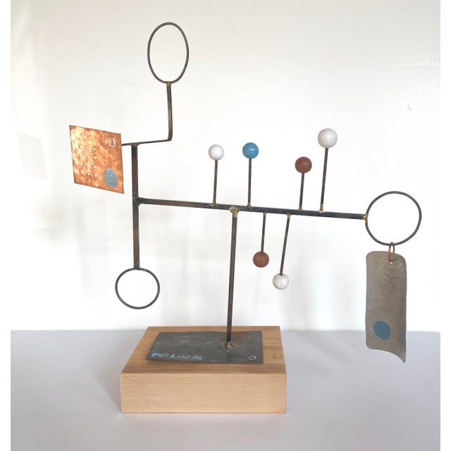Blue 20th Century Abstract Constructivist Sculpture For Sale - Image 8 of 9