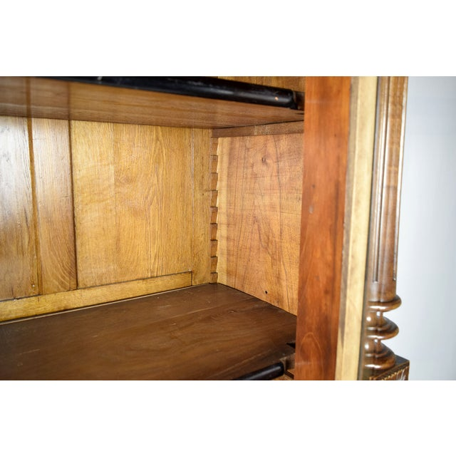 Antique French Single Door Walnut Bookcase For Sale - Image 7 of 9