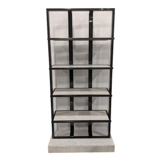 Graphite Metal Talmadge Bookcase For Sale